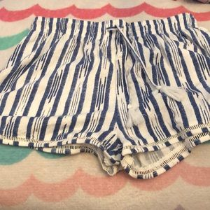 Blue and white shorts